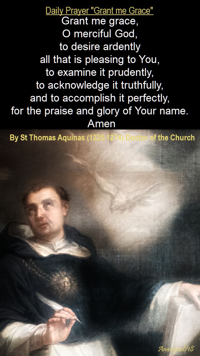grant me grace - st thomas aquinas - 18 jan 2018