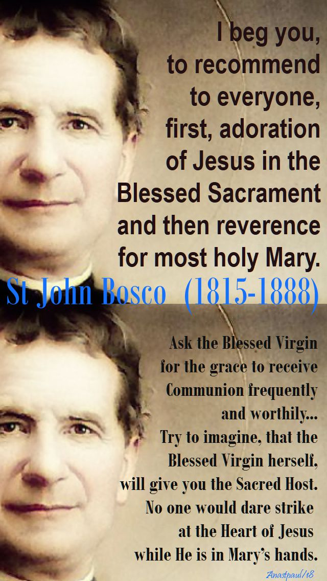 i beg you - st john bosco - 2018 - 31 jan