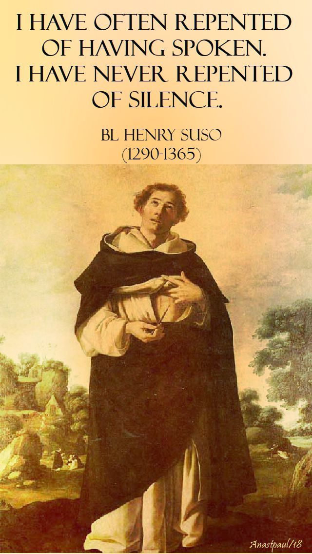 i have often repented - bl henry suso - 25 jan 2018