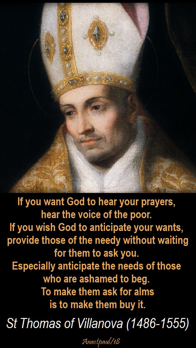 if you want god to hear your prayers - st homas of villanova - 16 jan 2018