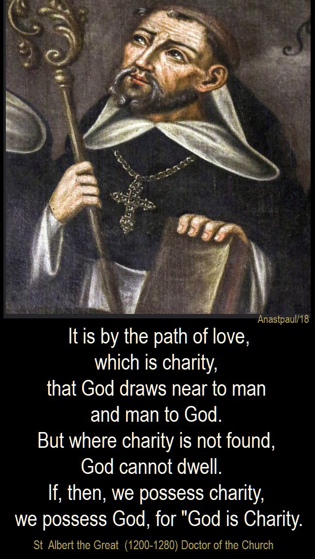 it is by the path of love - st albert the great - 16 jan 2018