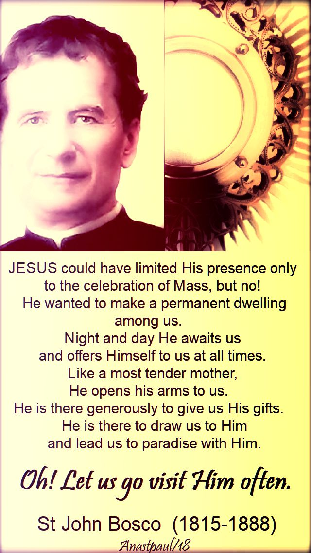 jesus could have limited - st john bosco - 31 jan 2018