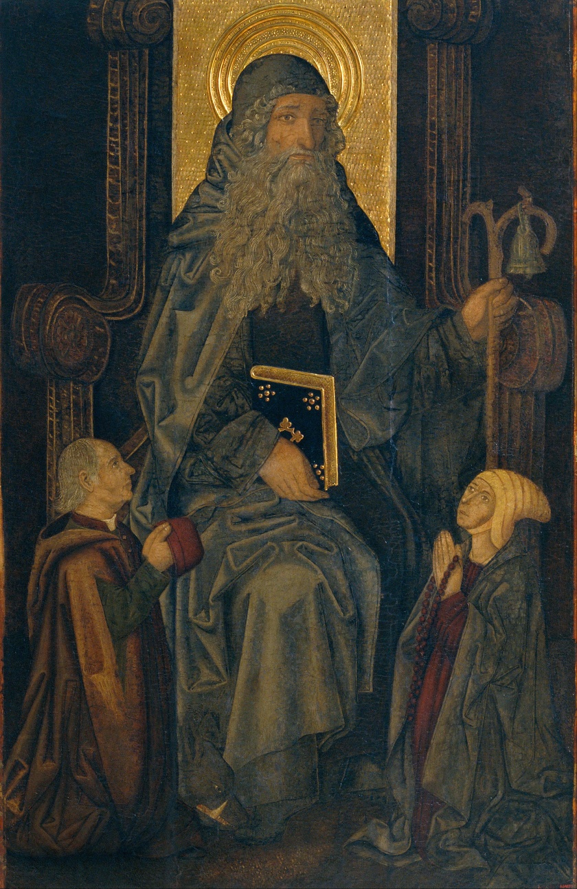 Martín_Bernat_-_Saint_Anthony_the_Abbot_and_Donors_-_Google_Art_Project