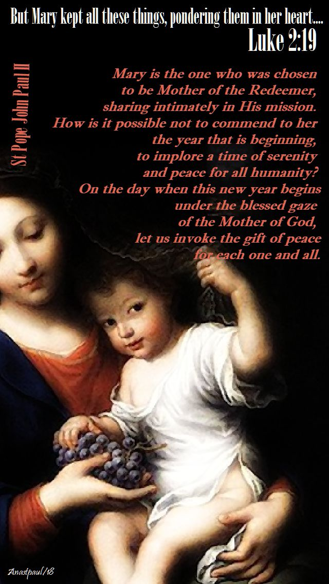 mary is the one who was chosen - st john paul - 1 jan 2018