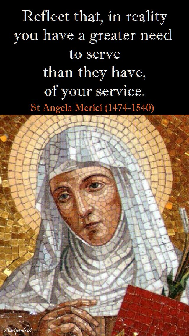 reflect that, in reality - st angela merici - 27 jan 2018