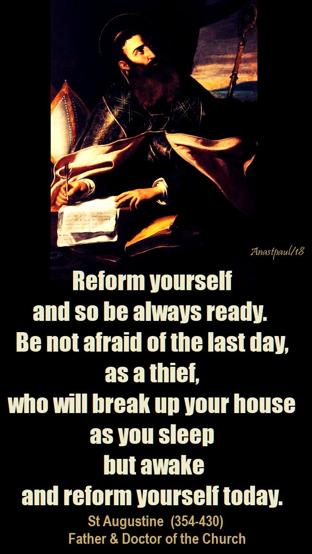 reform yourself - st augustine - 29 jan 2018