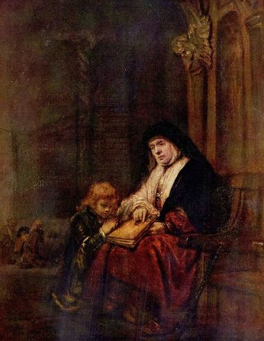 Rembrandt_s Timothy and his grandmother, 1648.