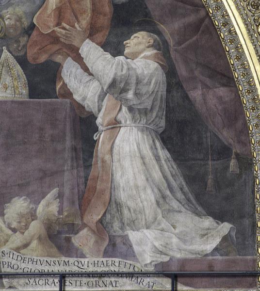 G.Reni, Hlg.Ildefons empfaengt Messgewand - Reni / Saint Ildephonsus / c.1611 - Reni, Guido , 1575-1642.