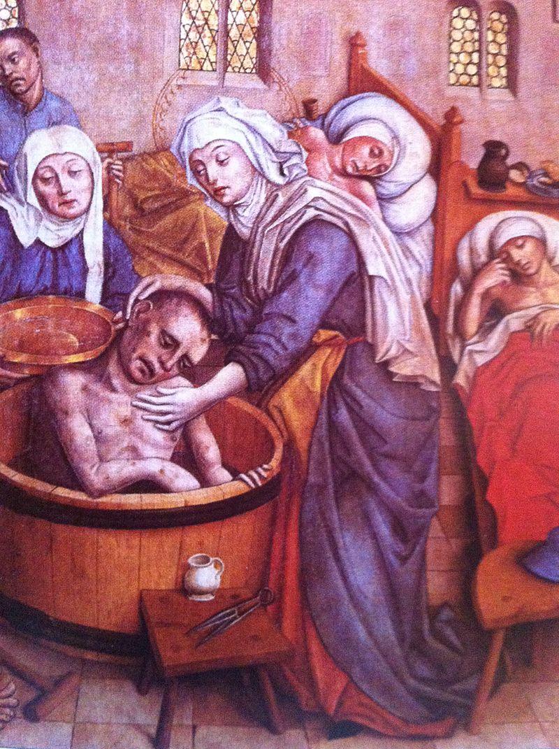 SAINT ELIZABETH OF HUNGARY - WASHING A POOR SICK MAN