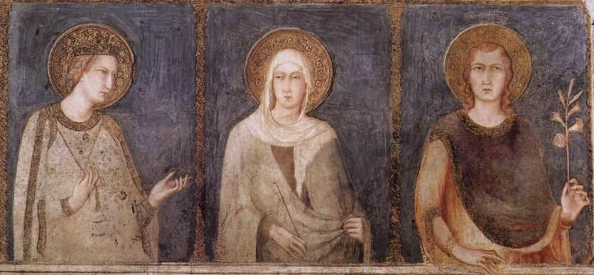 Simone Martini - St Elisabeth, St Margaret and Henry of Hungary