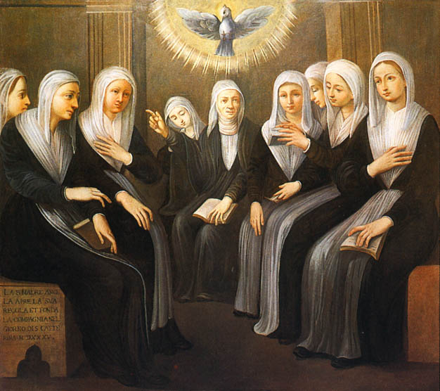 St Angela Merici and daughters