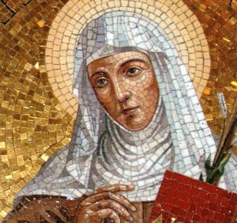 ST ANGELA MERICI MOSAIC BEAUTIFUL