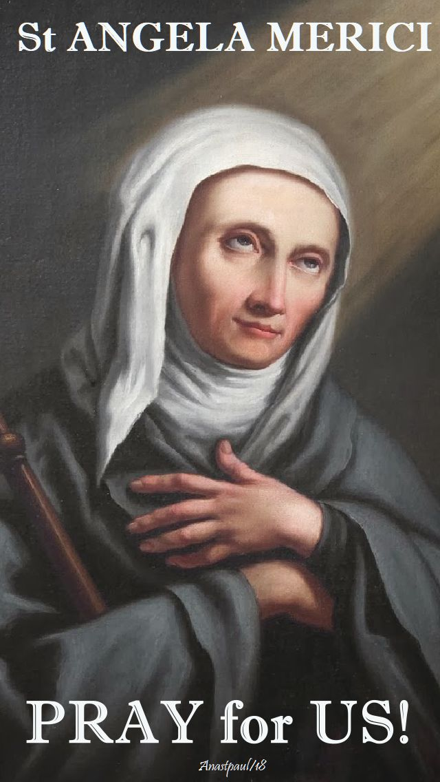 st angela merici pray for us no 2 - 27 jan 2018