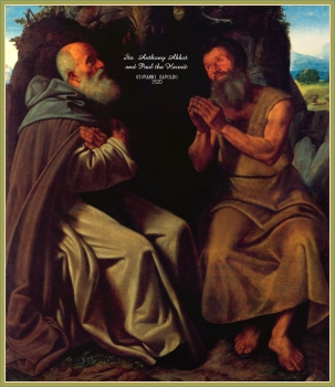 st anthony abbot and st paul the hermit