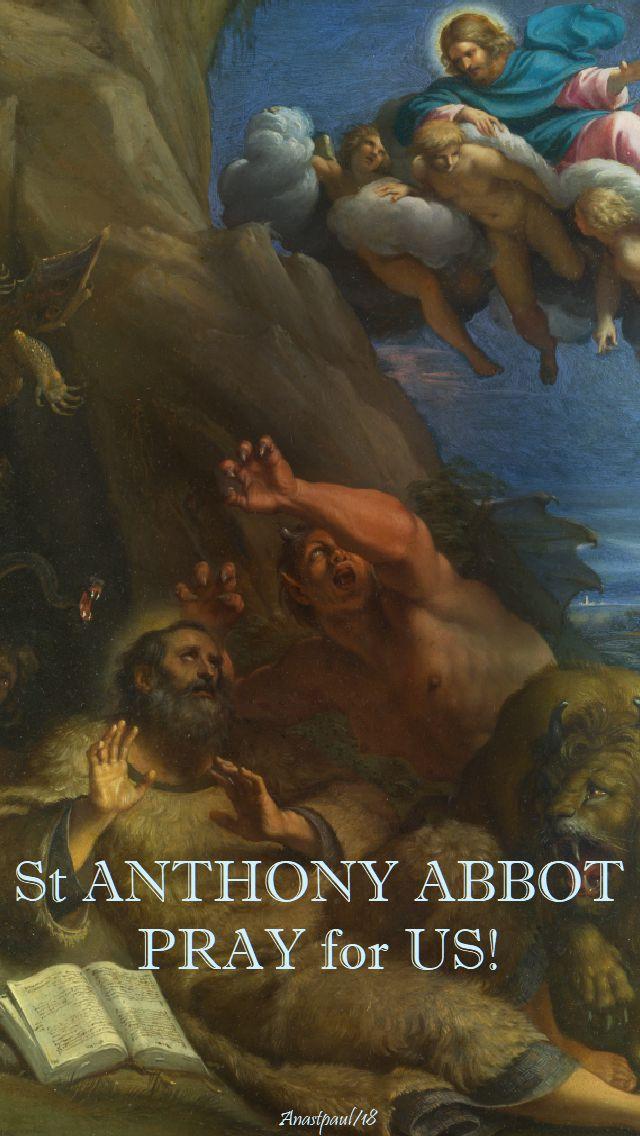 st anthony abbot - pray for us