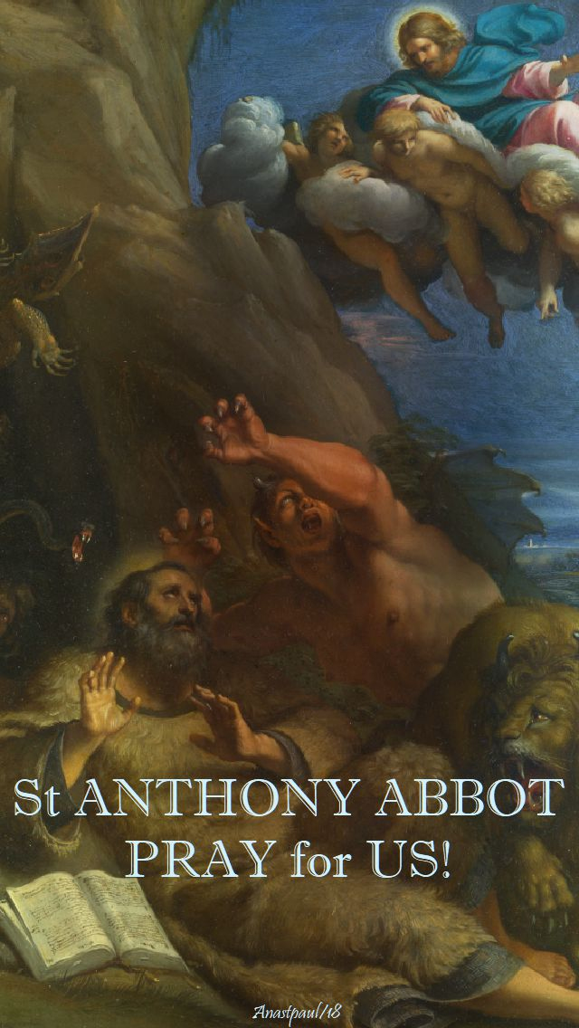st anthony abbot - pray for us