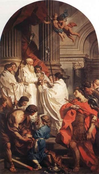 st basil saying mass