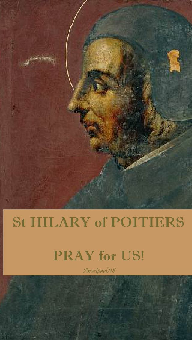 st hilary of poitiers pray for us