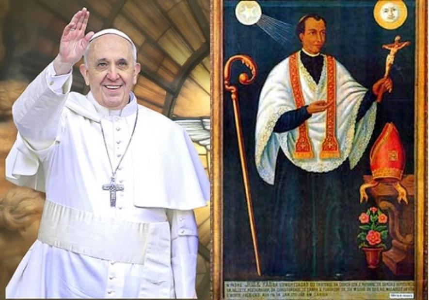 st joseph vaz & pope francis