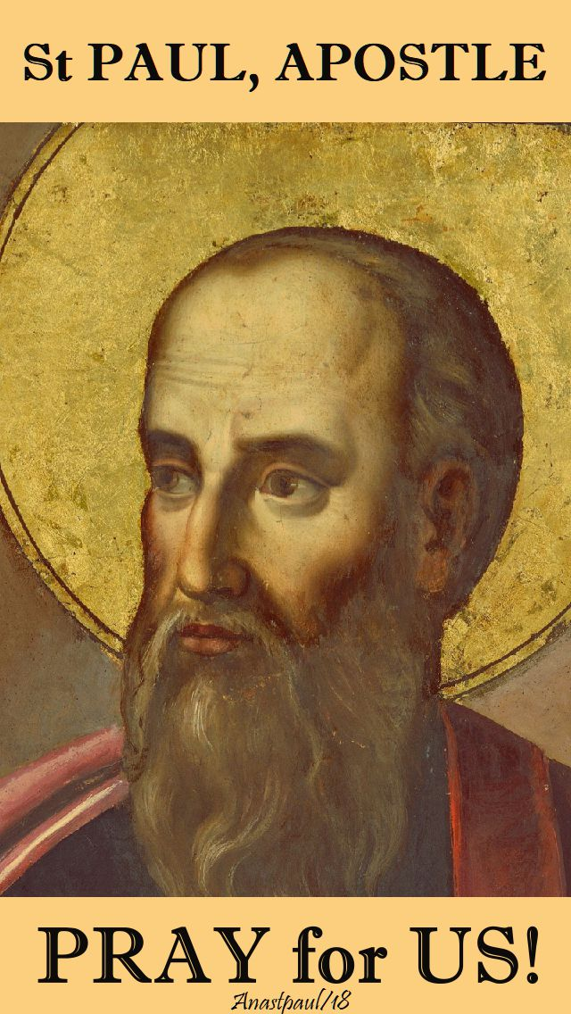 st paul apostle, pray for us - 25 jan 2018