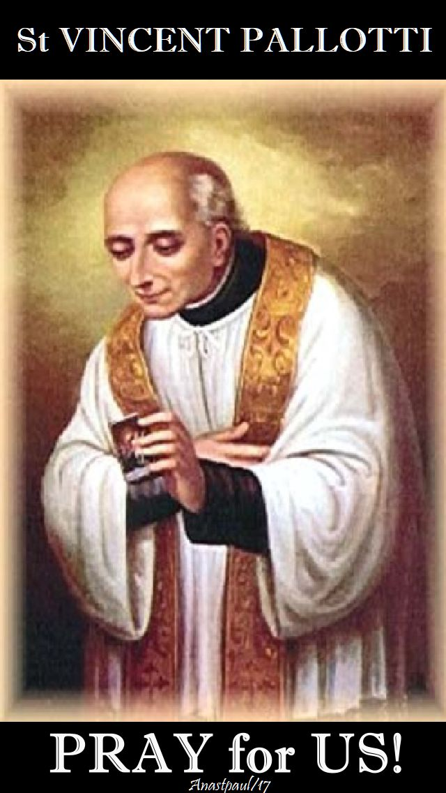 st vincent pallotti - pray for us - 22 jan 2018