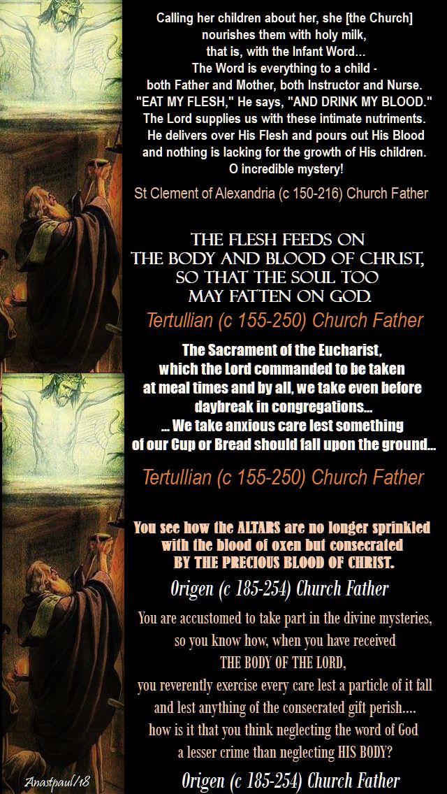 the holy eucharist-holy mass - church fathers - 14 jan 2018