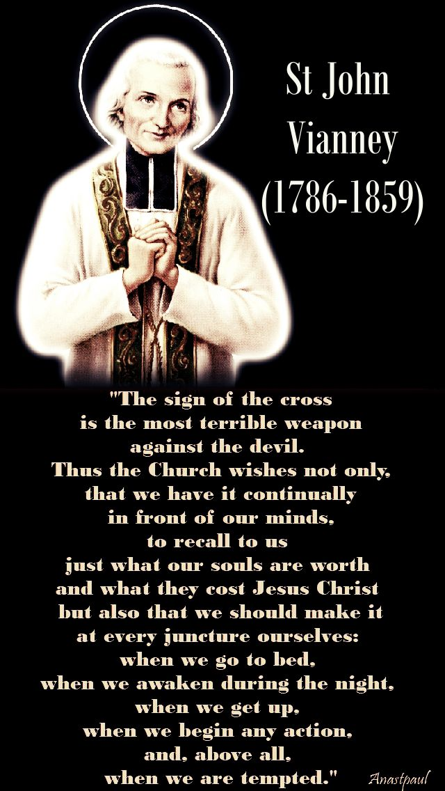 the sign of the cross - st john vianney.- new version - 17 jan 2018 jpg