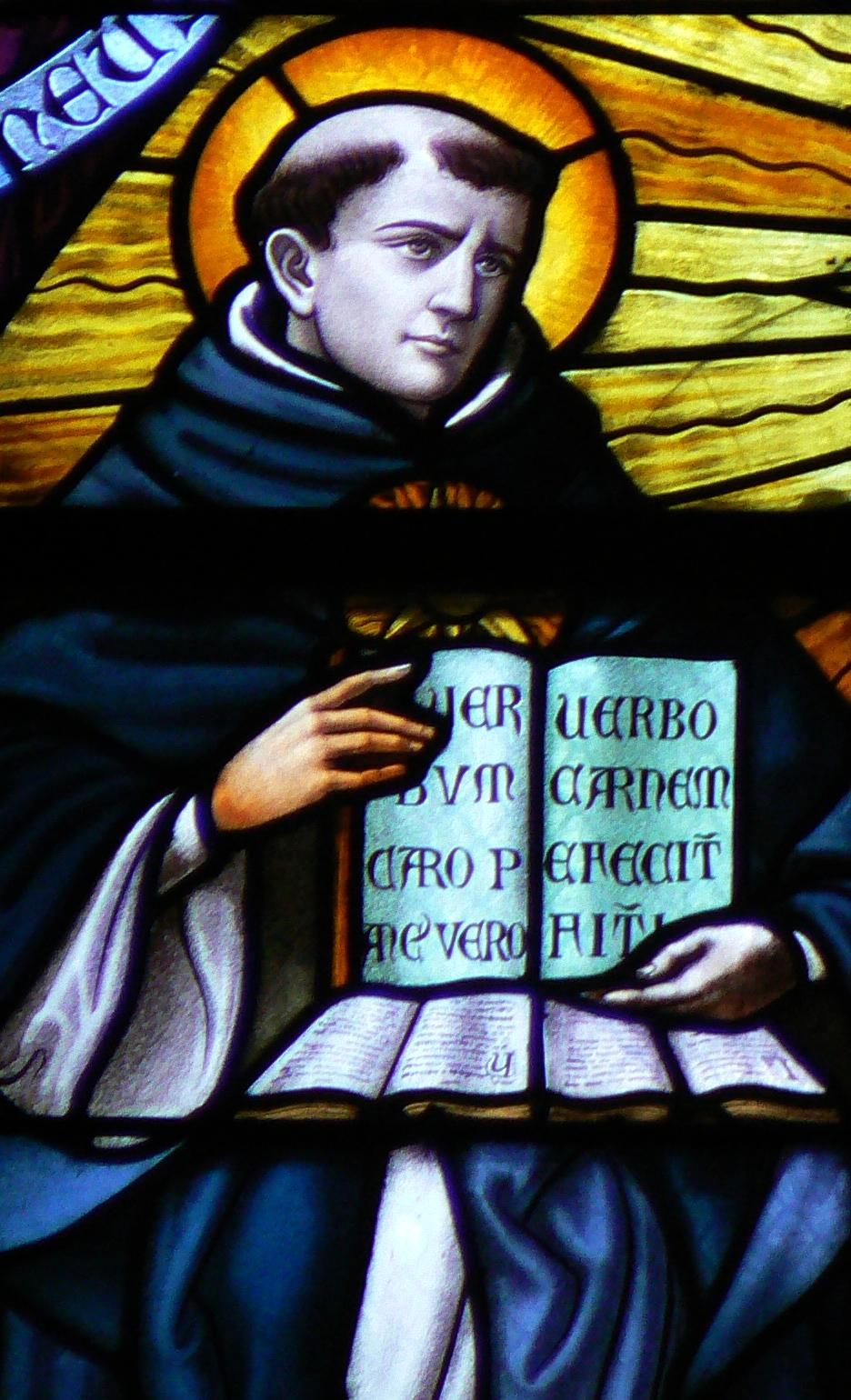 Thomas_Aquinas_in_Stained_Glass