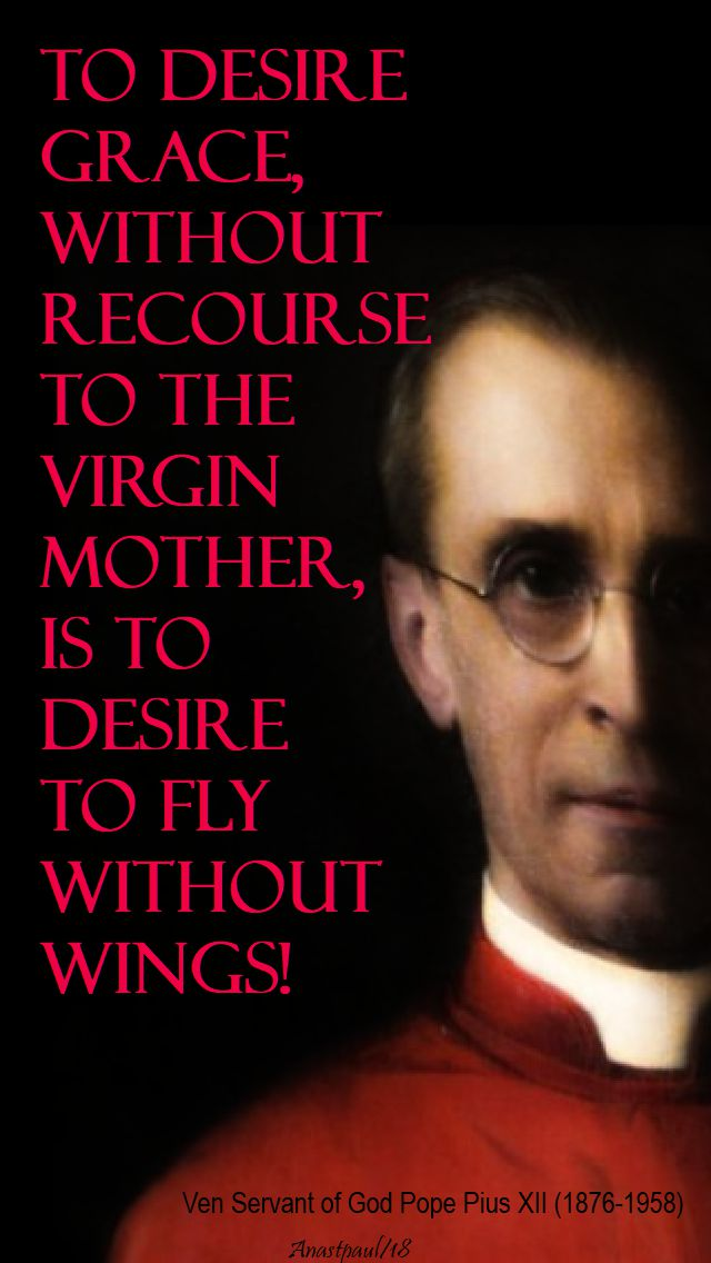 to desire grace - ven pope pius XII - 15 jan 2018