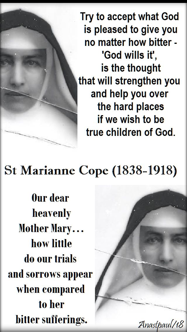 try to accept what god - st marianne cope - 23 jan 2018