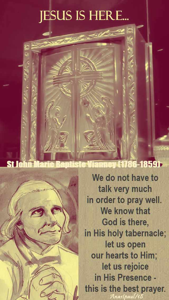 we do not have to talk - st john vianney - 12 jan 2018