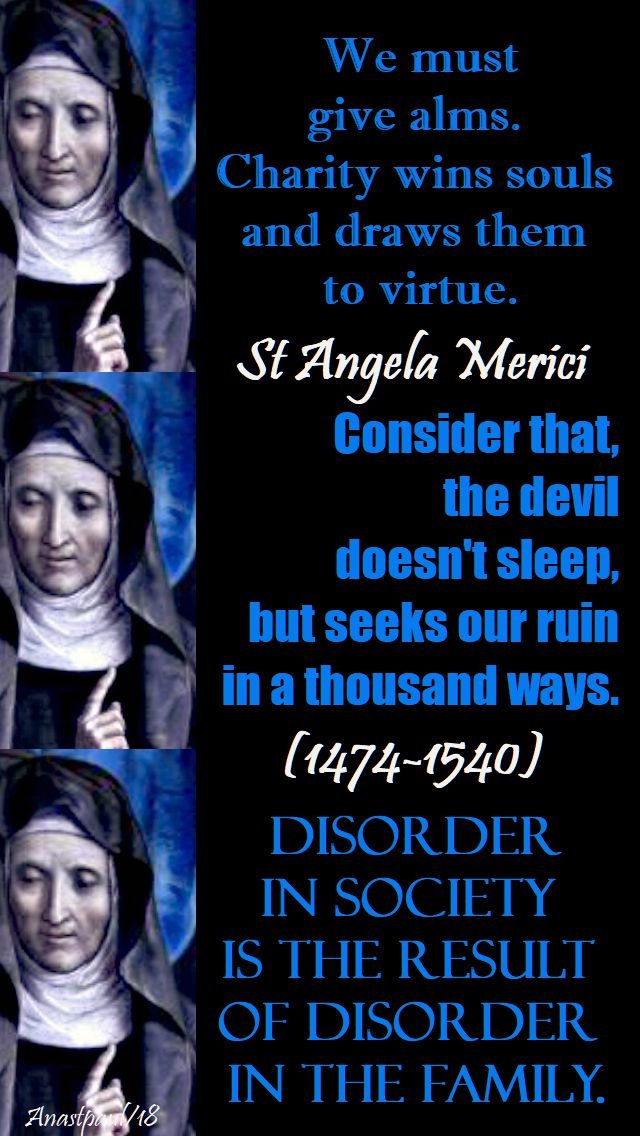 we must give alms - st angela merici - 27 jan 2018