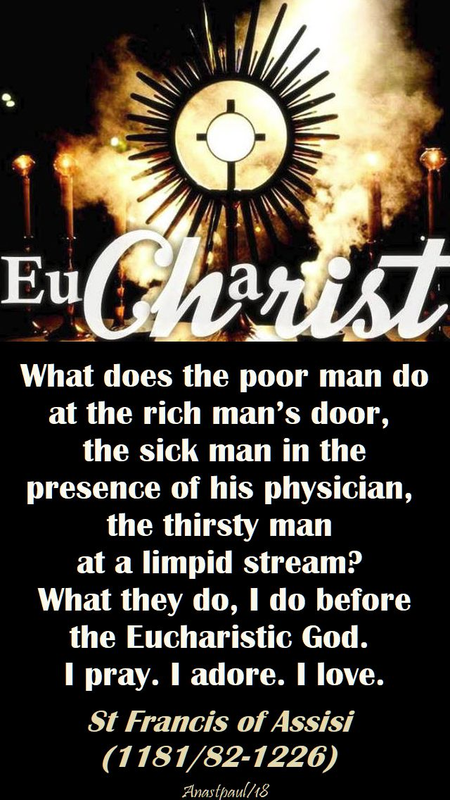 what does the poor man do - st francis - 18 jan 2018