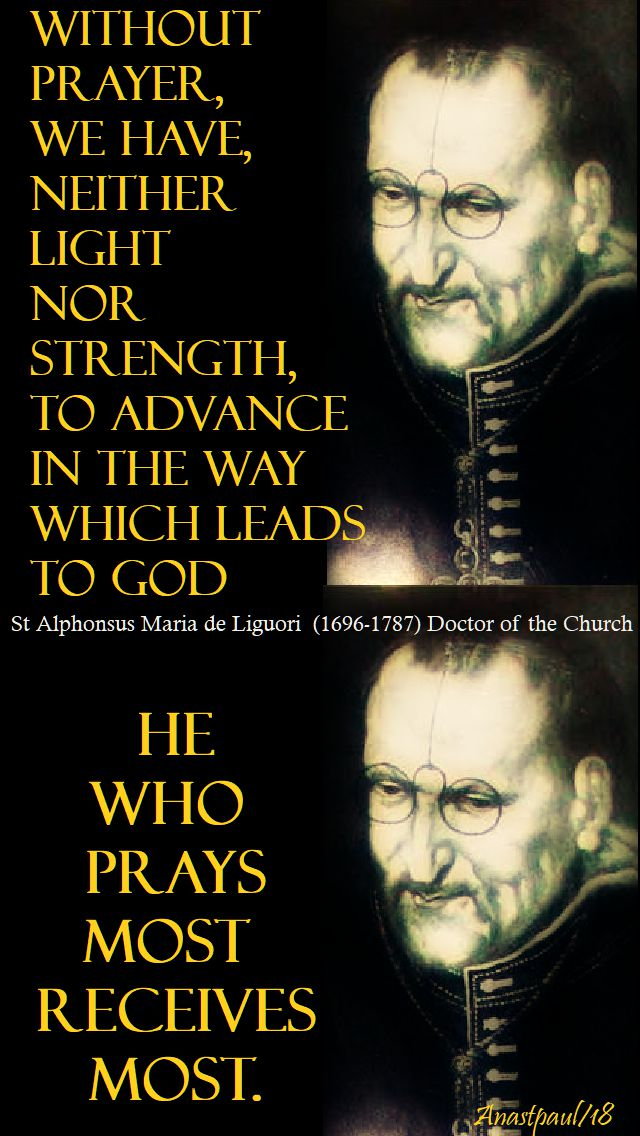 without prayer - st alphonsus - 30 jan 2018