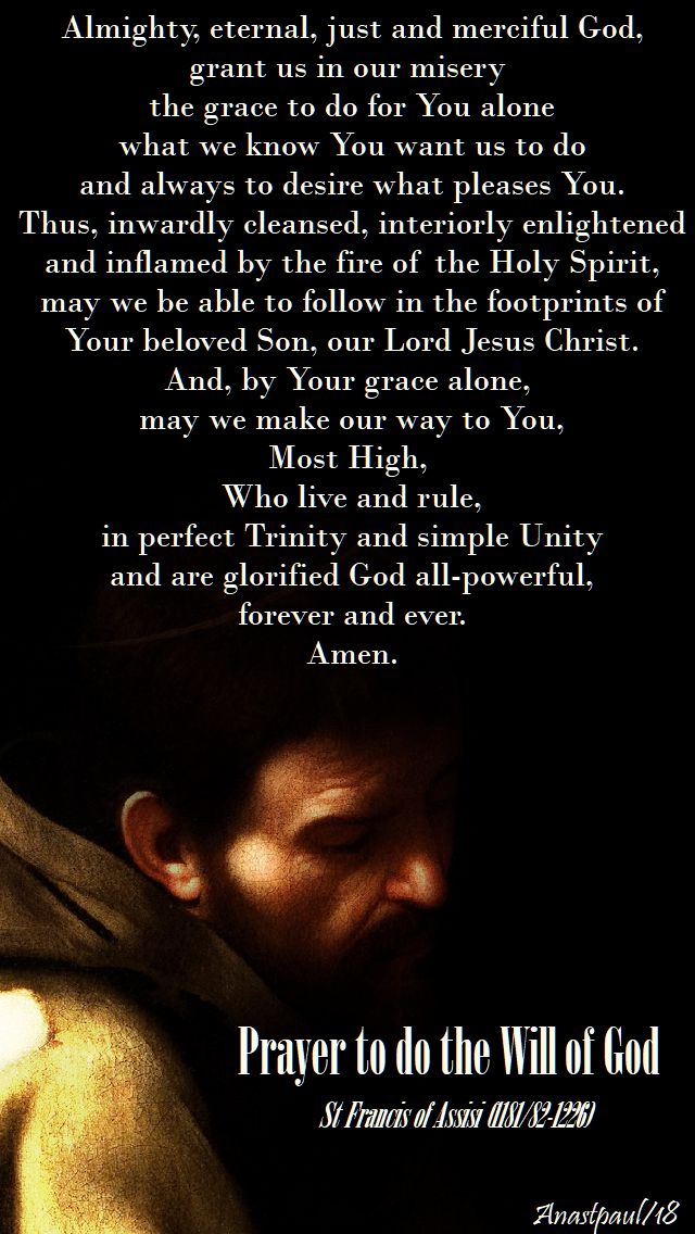 almighty eternal just and merciful god - st francis - 19 sept 2018
