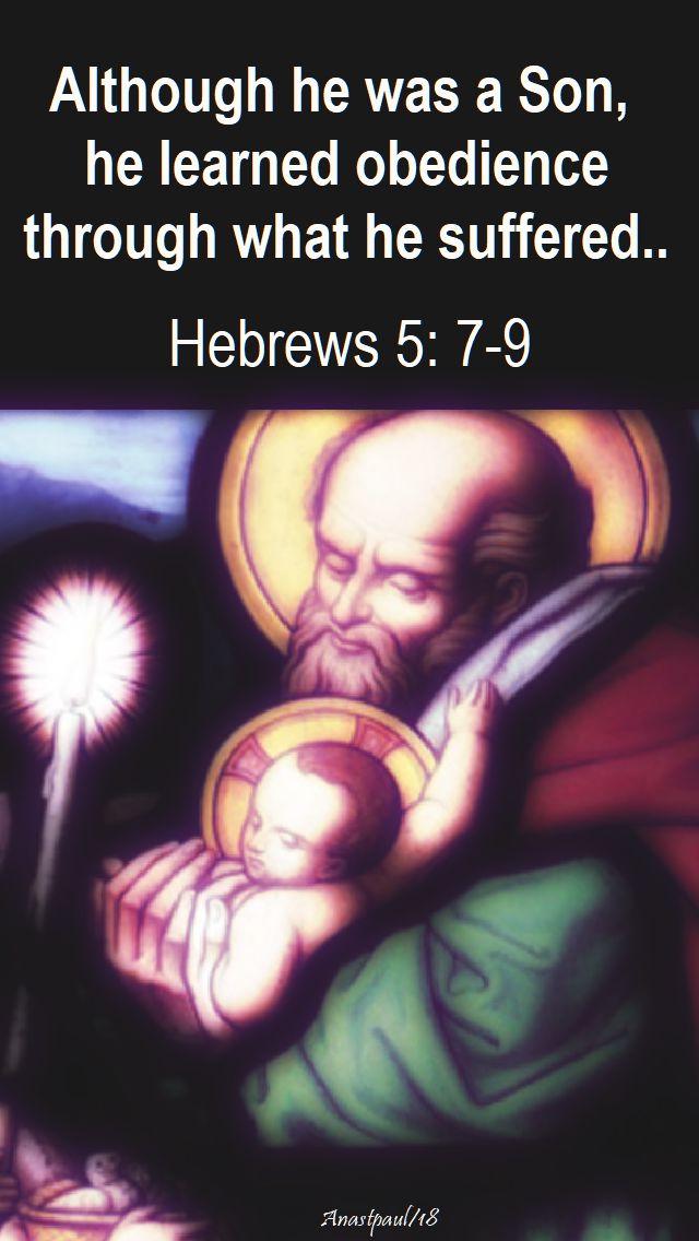although he was a son - hebrews 5 - 7-9