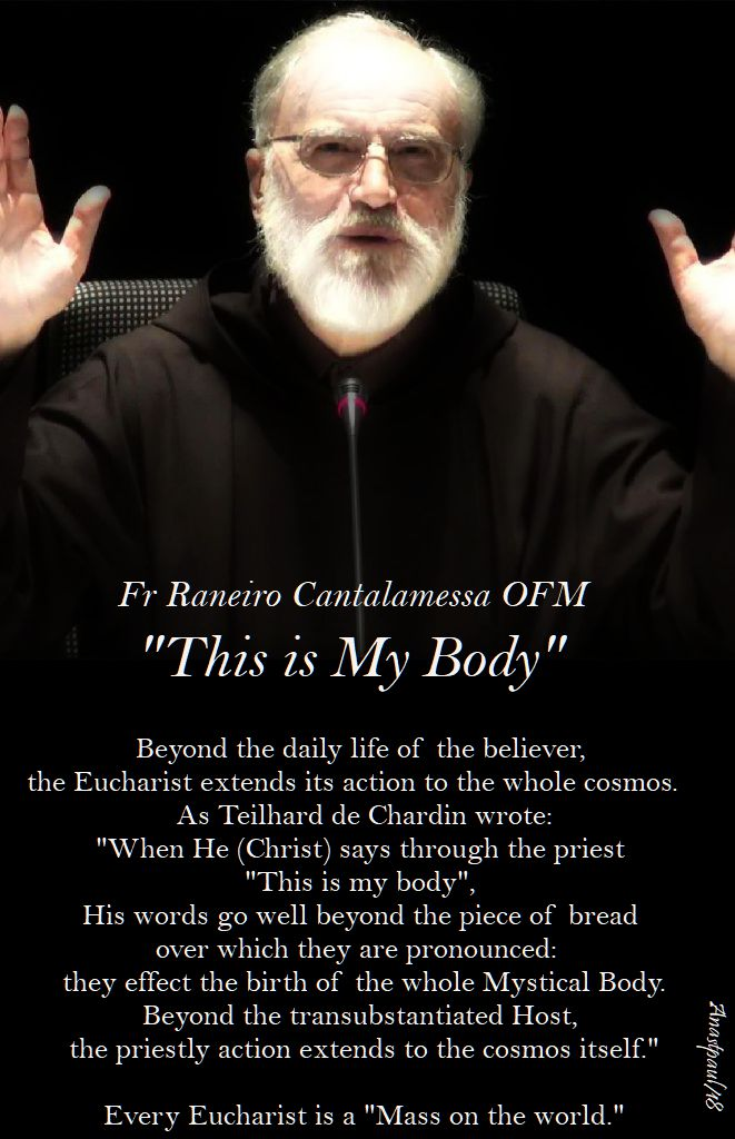 beyond the daily life of the - fr raneiro cantalamessa - 18 feb 2018 sunday reflection