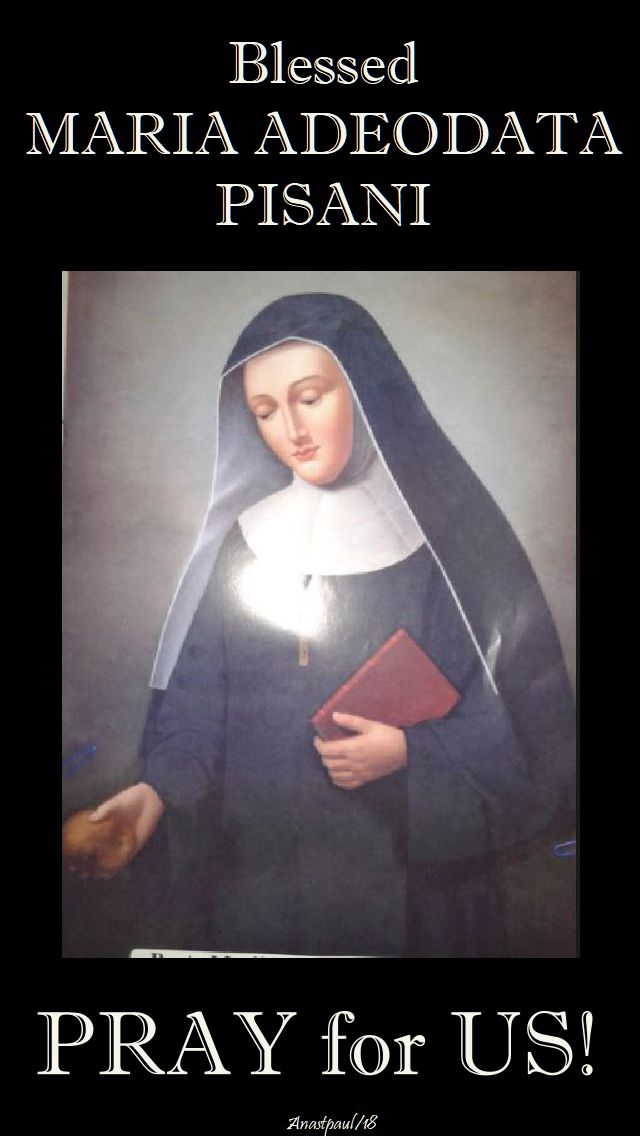 bl maria adeodata pray for us - 25 feb 2018