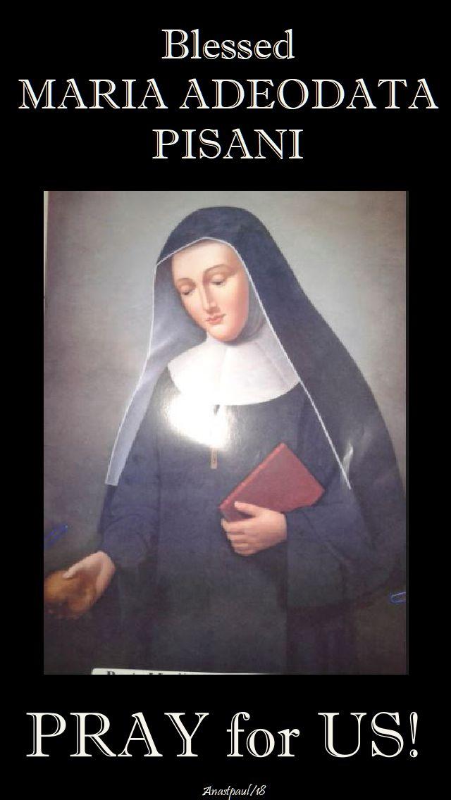 bl maria adeodata pray for us - 25 feb 2018