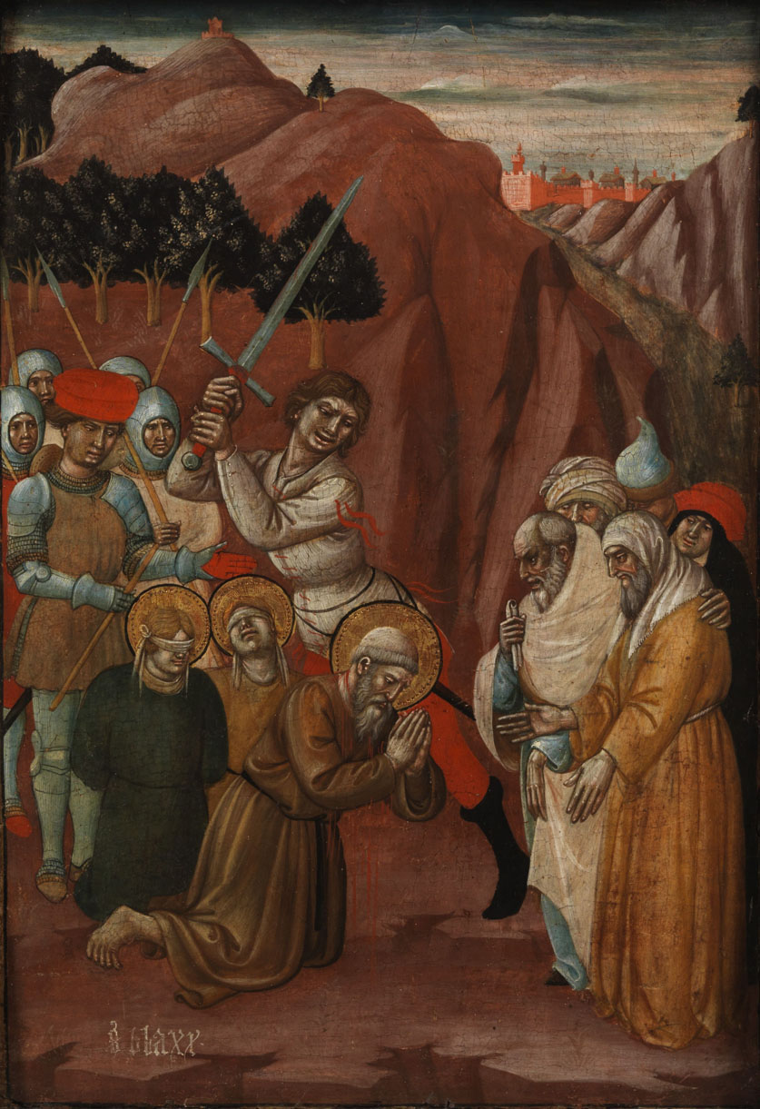Giovanni Antonio da Pesaro, St. Blaise Martyrdom, 15th cent.