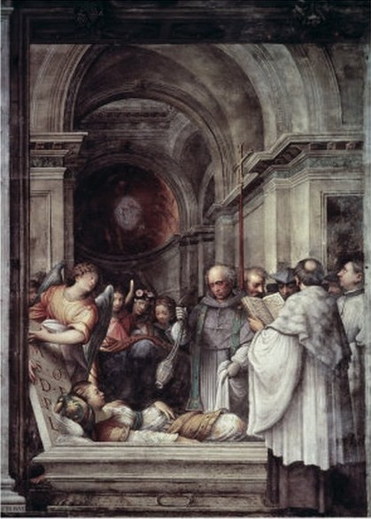 Burial of St Agatha, by Giulio Campi, 1537