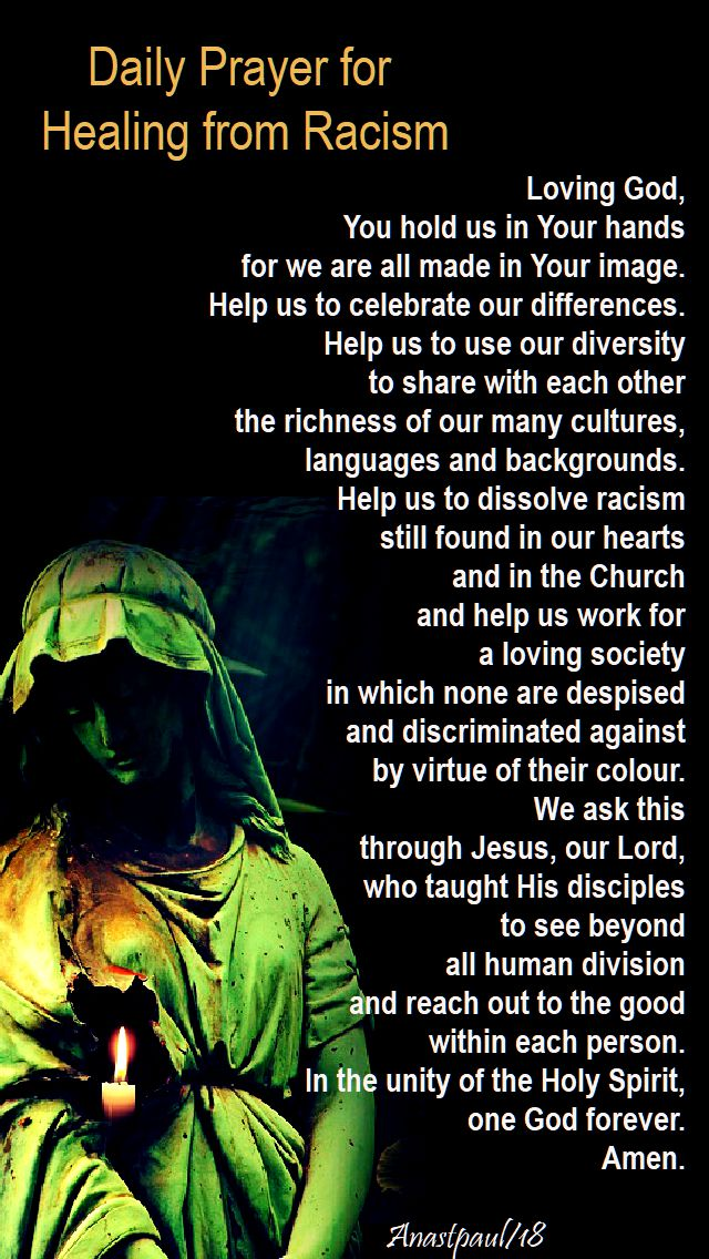 daily prayer for healing from racism - 23 feb 2018