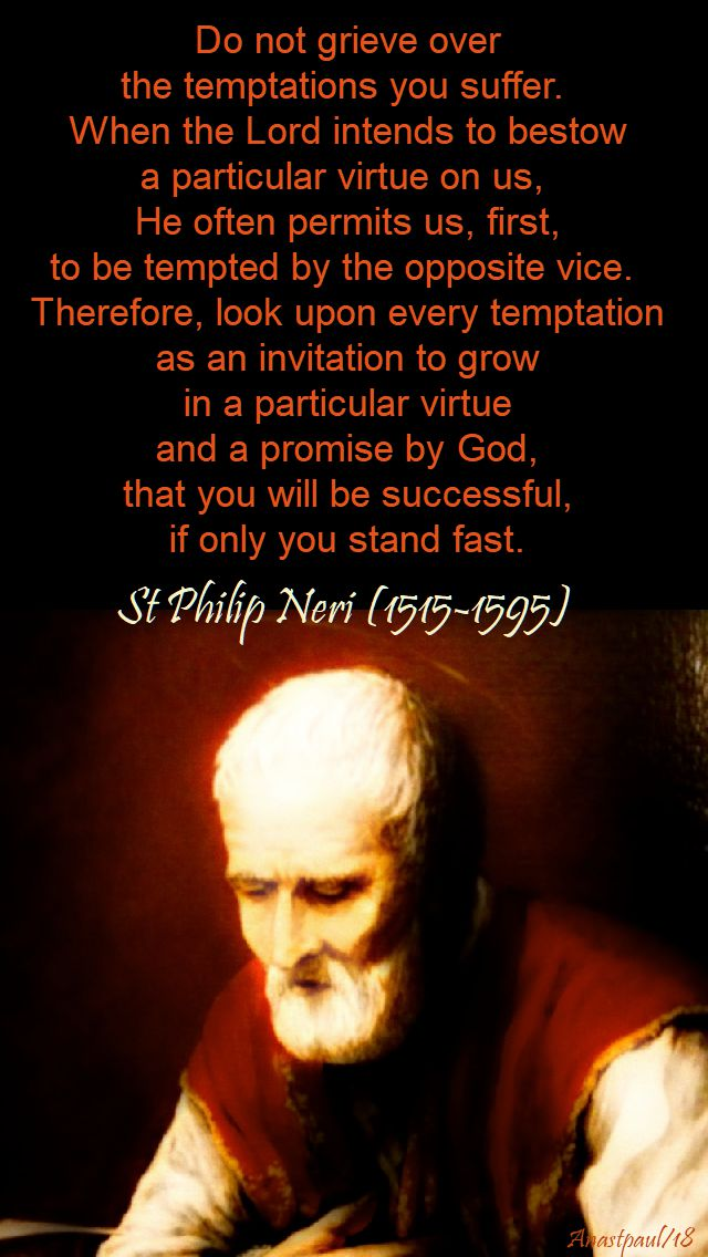 do not grieve - st philip neri - 1 feb 2018