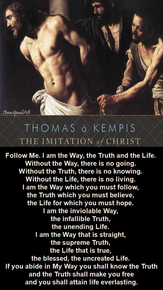 follow me - the imitation of christ - for lent - 12 feb 2018