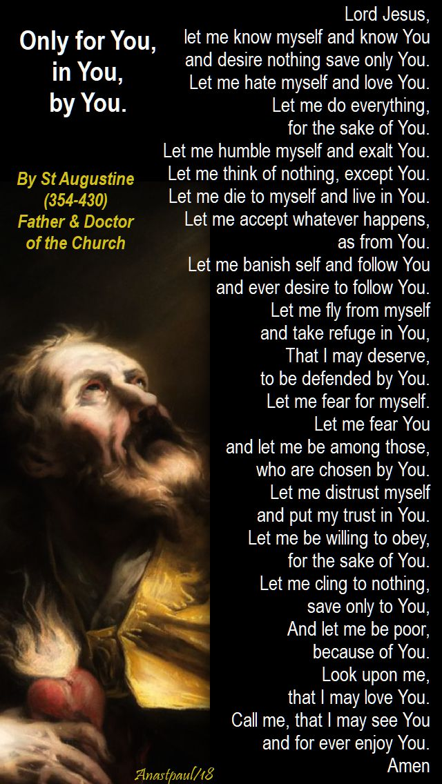 lord jesus let me know myself and know you - st augustine - 12 feb 2018