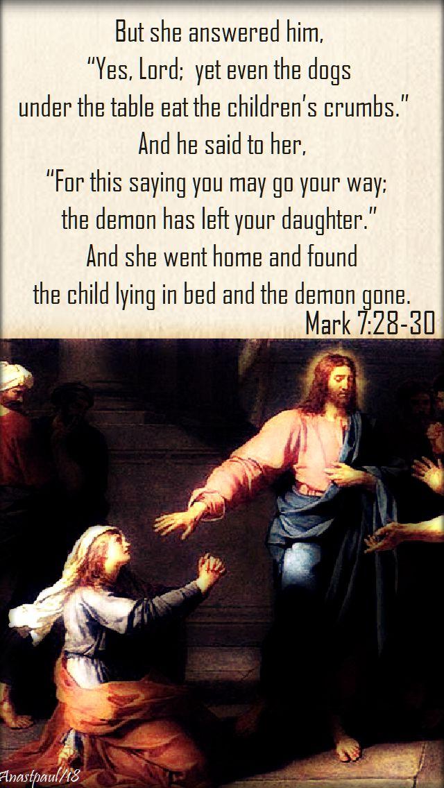 mark 7 28-30