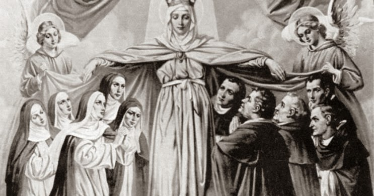 mary and the dominican saints