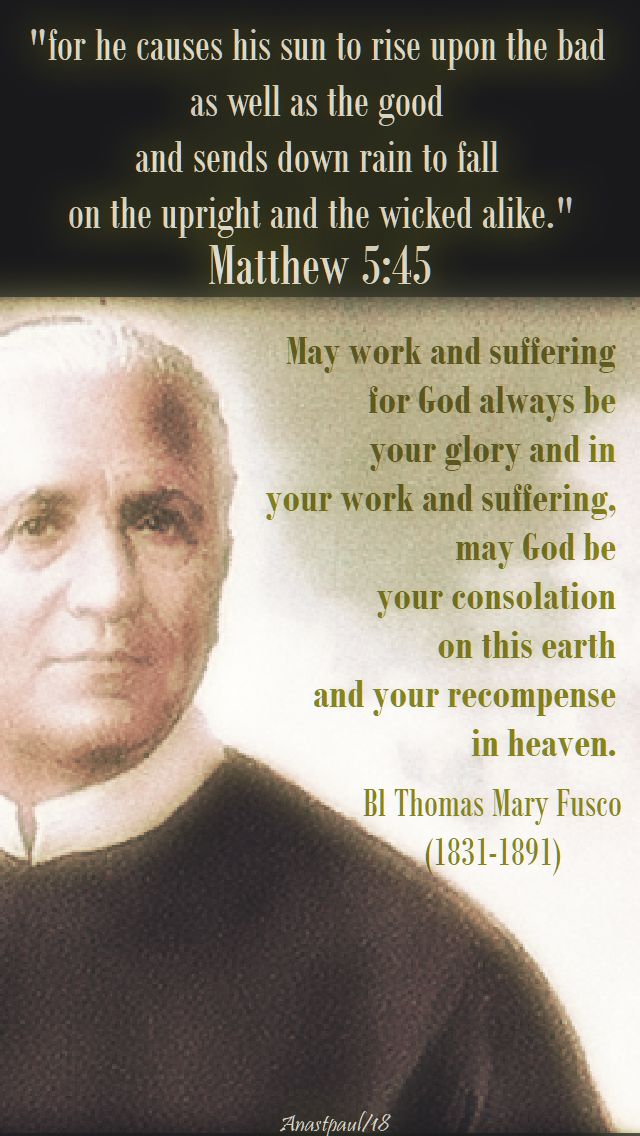 may work and suffering for god - 24 feb 2018