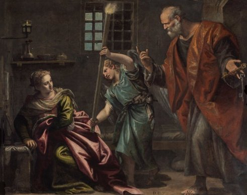 "Paolo Veronese's ""Saint Peter Visiting Saint Agatha in Prison"""