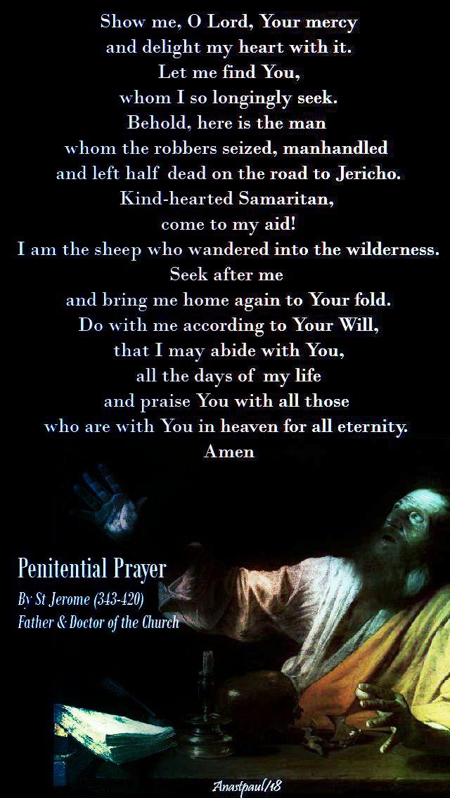 penintential prayer - st jerome - 22 feb 2018